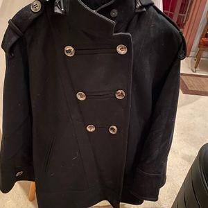 oversized wool cape coat